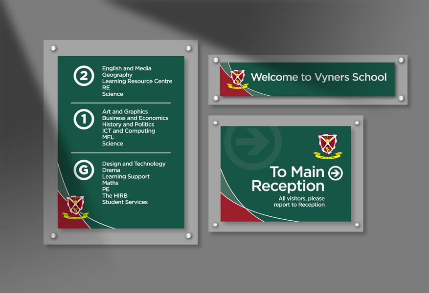 Vyners School Signage